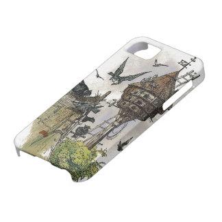 Caso del iPhone 5 de la pintura del Birdhouse del iPhone 5 Protectores