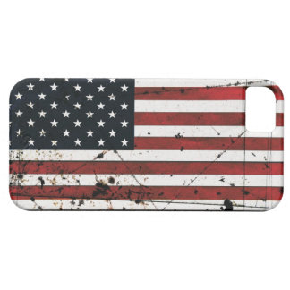 Caso del iphone 5 de la pintura del grunge de la b iPhone 5 fundas