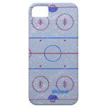 Caso del iPhone 5 de la pista de hielo del hockey iPhone 5 Case-Mate Cobertura
