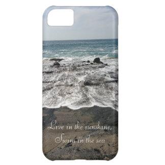 Caso del iPhone 5 de la playa de la nadada de la s