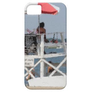 Caso del iphone 5 de la playa del salvavidas iPhone 5 carcasas