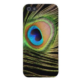 Caso del iPhone 5 de la pluma del pavo real iPhone 5 Cárcasas