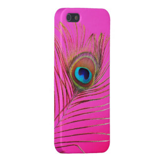 Caso del iPhone 5 de la pluma del pavo real iPhone 5 Cárcasa