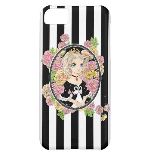 Caso del iPhone 5 de la princesa del cisne (negro)