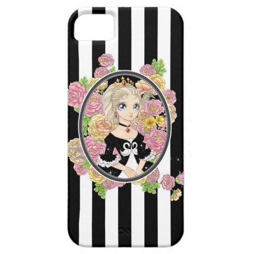 Caso del iPhone 5 de la princesa del cisne (negro) iPhone 5 Carcasas