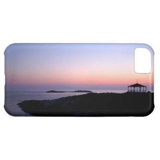 Caso del iphone 5 de la puesta del sol de la isla  funda para iPhone 5C