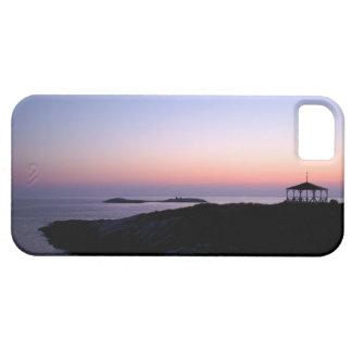 Caso del iphone 5 de la puesta del sol de la isla funda para iPhone SE/5/5s