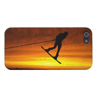 Caso del iPhone 5 de la puesta del sol del Wakeboa iPhone 5 Funda