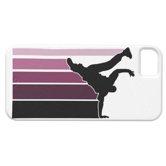 Caso del iPhone 5 de la púrpura/negro de la Funda Para iPhone SE/5/5s
