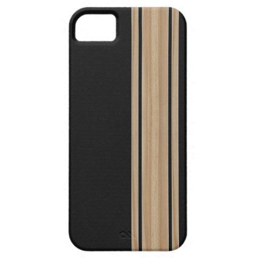 Caso del iPhone 5 de la raya de la fibra de carbon iPhone 5 Protector