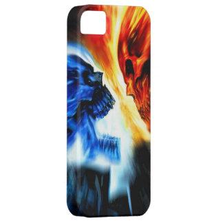 Caso del iPhone 5 de la rivalidad del cráneo Funda Para iPhone SE/5/5s