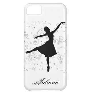 Caso del iPhone 5 de la silueta de la bailarina Funda Para iPhone 5C