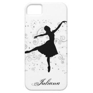 Caso del iPhone 5 de la silueta de la bailarina Funda Para iPhone 5 Barely There
