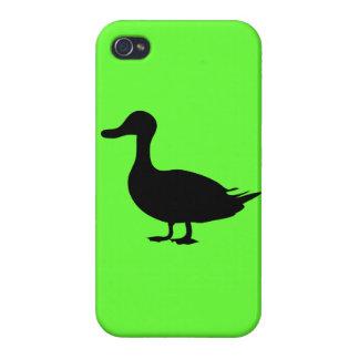 Caso del iPhone 5 de la silueta del pato negro de  iPhone 4 Carcasas