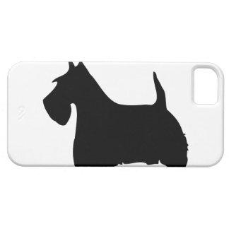 Caso del iphone 5 de la silueta del perro de iPhone 5 carcasa