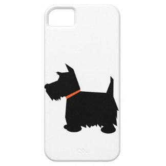 Caso del iphone 5 de la silueta del perro de funda para iPhone 5 barely there