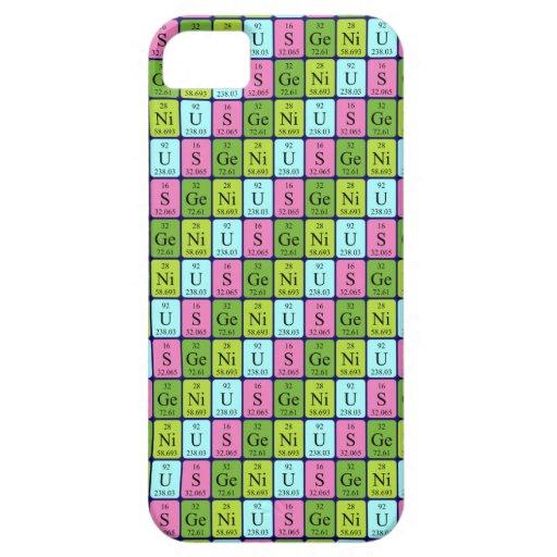 Caso del iPhone 5 de la tabla periódica del genio iPhone 5 Funda