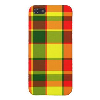 Caso del iPhone 5 de la tela escocesa de R/G/Y iPhone 5 Carcasa