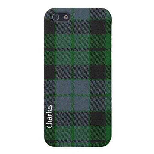Caso del iPhone 5 de la tela escocesa de tartán de iPhone 5 Funda