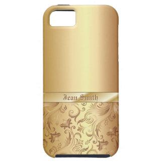 Caso del iPhone 5 de la textura del metal del iPhone 5 Fundas