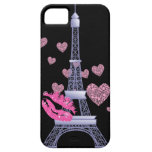 caso del iphone 5 de la torre Eiffel del amor de P iPhone 5 Case-Mate Cárcasa
