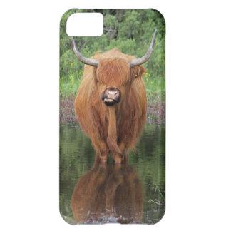 Caso del iPhone 5 de la vaca de la montaña Funda Para iPhone 5C