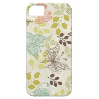 caso del iphone 5 de las mariposas del doodle funda para iPhone SE/5/5s