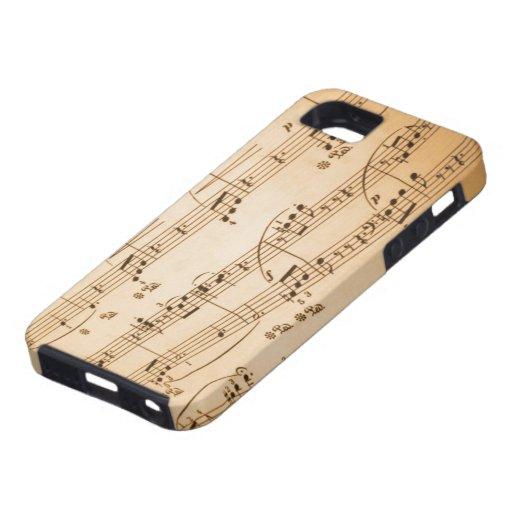 Caso del iPhone 5 de las notas musicales iPhone 5 Case-Mate Protector