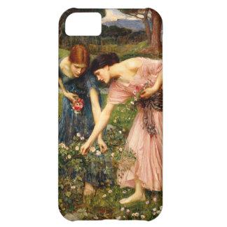 Caso del iPhone 5 de los capullos de rosa de YE de Funda Para iPhone 5C