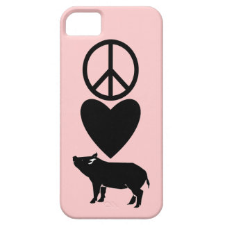 Caso del iPhone 5 de los cerdos del amor de la paz iPhone 5 Carcasa