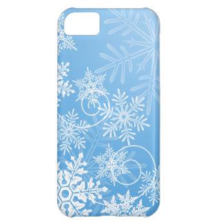 Caso del iPhone 5 de los copos de nieve Funda Para iPhone 5C