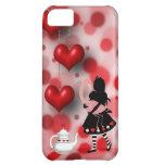 Caso del iPhone 5 de los corazones de Alicia y del