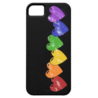 Caso del iPhone 5 de los corazones del orgullo gay iPhone 5 Funda