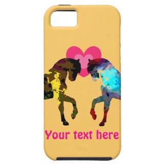Caso del iPhone 5 de los corazones y del caballo iPhone 5 Case-Mate Carcasas