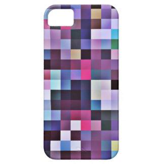 Caso del iPhone 5 de los cuadrados del pixel - púr iPhone 5 Case-Mate Cárcasa