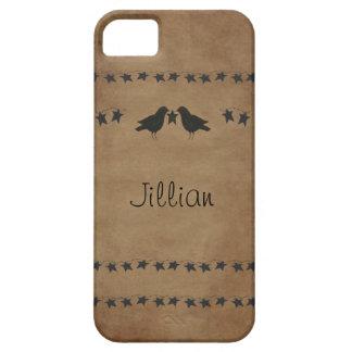 Caso del iPhone 5 de los cuervos y de las estrella iPhone 5 Case-Mate Coberturas