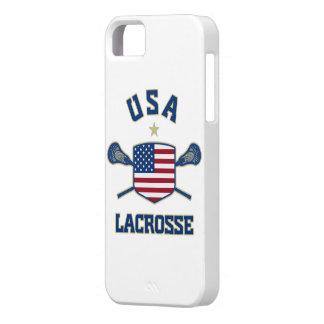 Caso del iphone 5 de los E E U U LaCrosse iPhone 5 Case-Mate Cárcasas