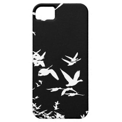 Caso del iPhone 5 de los gansos de nieve iPhone 5 Cárcasa