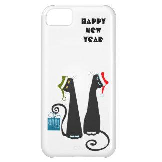Caso del iPhone 5 de los gatos de Santa Funda Para iPhone 5C
