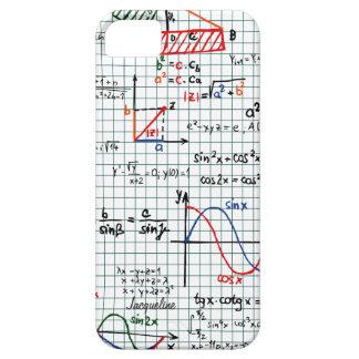 Caso del iPhone 5 de los números de fórmulas de la Funda Para iPhone SE/5/5s