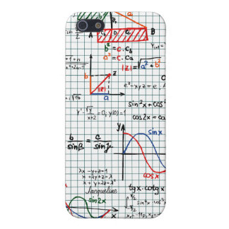 Caso del iPhone 5 de los números de fórmulas de la iPhone 5 Carcasa