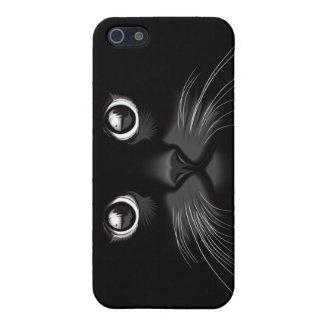 Caso del iPhone 5 de los ojos de gato negro iPhone 5 Carcasa