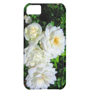 Caso del iPhone 5 de los rosas blancos Funda Para iPhone 5C