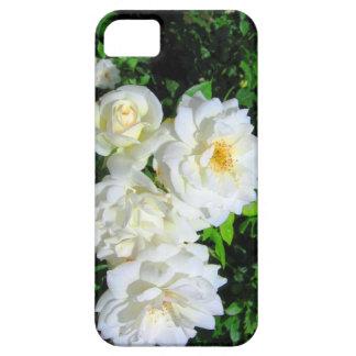 Caso del iPhone 5 de los rosas blancos iPhone 5 Fundas