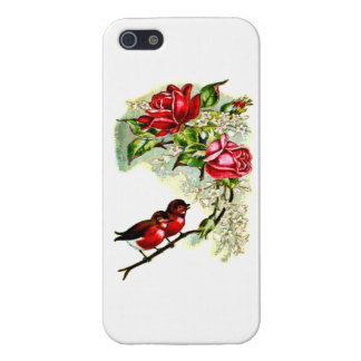 caso del iphone 5 de los rosas rojos y de los pája iPhone 5 carcasa