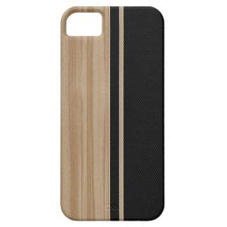 Caso del iPhone 5 de madera y de la fibra de carbo iPhone 5 Case-Mate Protector