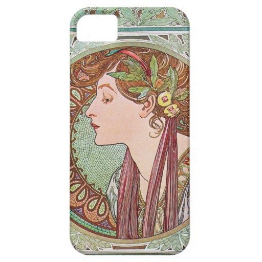 Caso del iPhone 5 de Nouveau del arte del laurel d iPhone 5 Case-Mate Cárcasas
