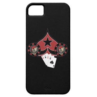 Caso del iPhone 5 de Pokerchip del cráneo iPhone 5 Case-Mate Cárcasas