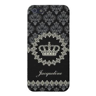 Caso del iPhone 5 de princesa Damask Crown del vin iPhone 5 Carcasa
