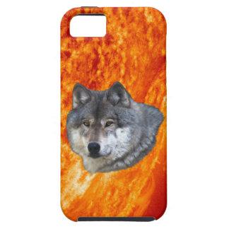 Caso del iPhone 5 de Sun ardiendo y del lobo gris iPhone 5 Carcasa